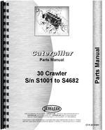 Parts Manual for Caterpillar 30 Crawler