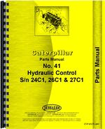 Parts Manual for Caterpillar 41 Hydraulic Control Attachment