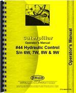 Operators Manual for Caterpillar 44 Hydraulic Control Attachment