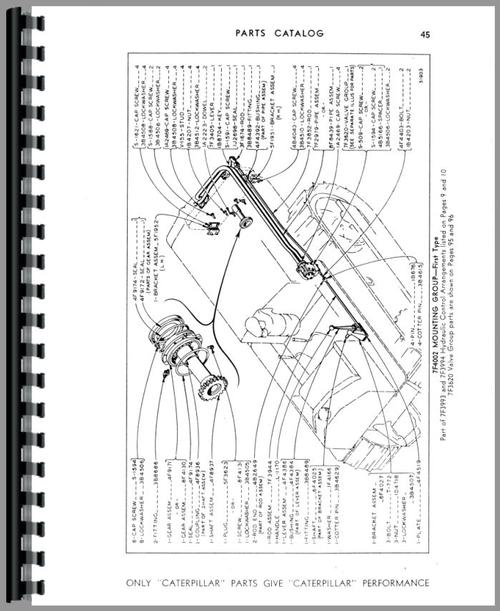 Parts Manual for Caterpillar 44 Hydraulic Control Attachment Sample Page From Manual