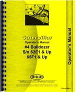 Operators Manual for Caterpillar 4A Bulldozer Attachment