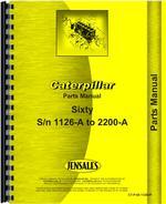 Parts Manual for Caterpillar 60 Scraper