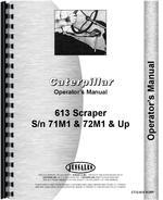 Operators Manual for Caterpillar 613 Tractor Scraper
