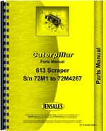 Parts Manual for Caterpillar 613 Tractor Scraper