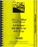 Operators Manual for Caterpillar 615 Tractor Scraper