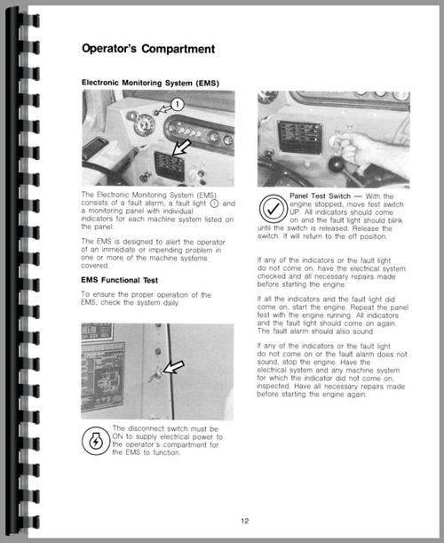 Operators Manual for Caterpillar 615 Tractor Scraper Sample Page From Manual