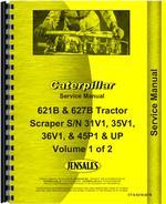 Service Manual for Caterpillar 621B Tractor Scraper