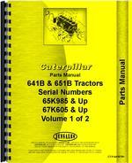 Parts Manual for Caterpillar 641B Tractor Scraper