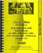 Service Manual for Caterpillar 650B Tractor Scraper