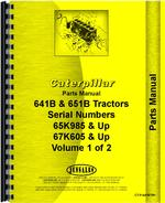 Parts Manual for Caterpillar 651B Tractor Scraper