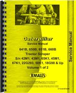 Service Manual for Caterpillar 660B Tractor Scraper