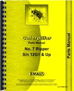 Parts Manual for Caterpillar 7 Ripper Attachment