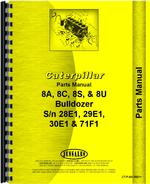 Parts Manual for Caterpillar 8A Bulldozer Attachment