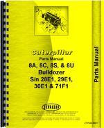 Parts Manual for Caterpillar 8C Bulldozer Attachment