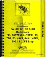 Parts Manual for Caterpillar 8U Bulldozer Attachment