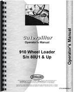 Operators Manual for Caterpillar 910 Wheel Loader