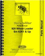 Parts Manual for Caterpillar 920 Wheel Loader
