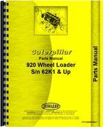 Parts Manual for Caterpillar 920 Wheel Loader