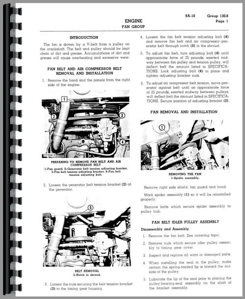 Service Manual for Caterpillar 922 Wheel Loader Sample Page From Manual
