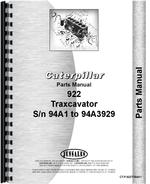 Parts Manual for Caterpillar 922 Traxcavator