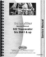 Service Manual for Caterpillar 922 Traxcavator