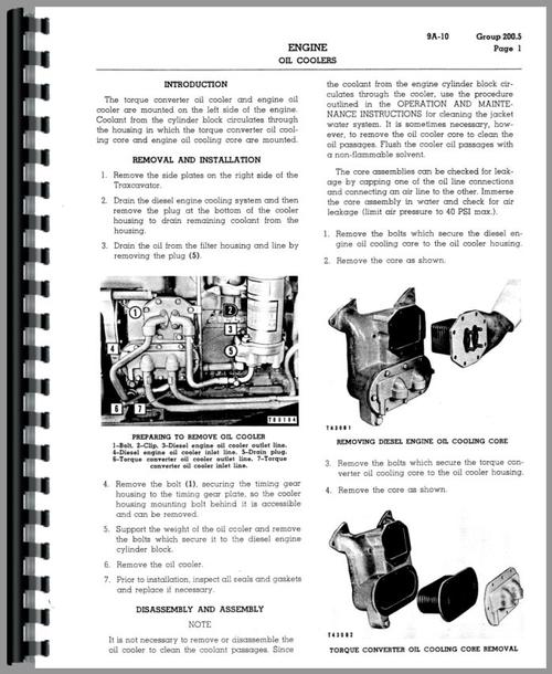 Service Manual for Caterpillar 922B Wheel Loader Sample Page From Manual