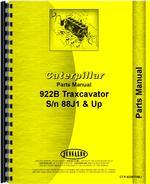 Parts Manual for Caterpillar 922B Traxcavator