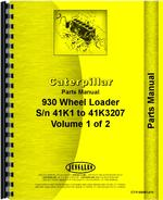 Parts Manual for Caterpillar 930 Wheel Loader