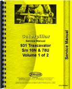 Service Manual for Caterpillar 931 Traxcavator