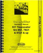 Operators Manual for Caterpillar 931 Traxcavator