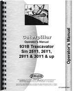 Operators Manual for Caterpillar 931B Traxcavator