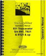 Operators Manual for Caterpillar 931 LGP Traxcavator