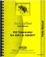 Parts Manual for Caterpillar 933 Traxcavator