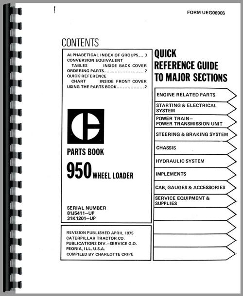 caterpillar 950 wheel loader parts manual rh themanualstore com caterpillar parts manual online caterpillar parts manual for 287b mtl