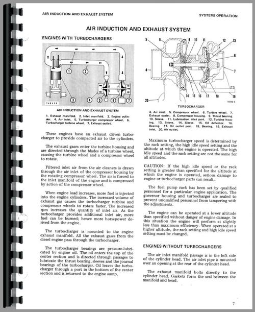 Service Manual for Caterpillar 951B Traxcavator Sample Page From Manual