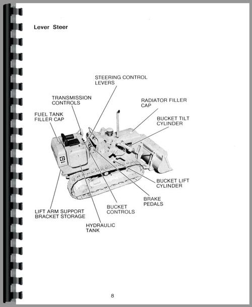Operators Manual for Caterpillar 951B Traxcavator Sample Page From Manual