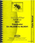 Parts Manual for Caterpillar 951C Traxcavator