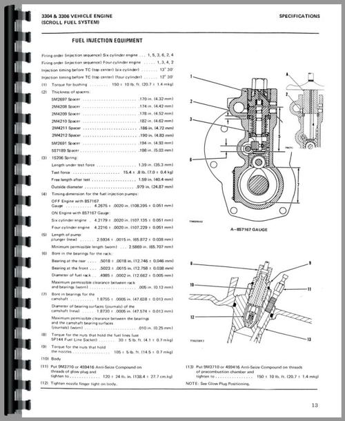 Service Manual for Caterpillar 955L Traxcavator Sample Page From Manual