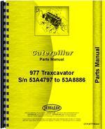 Parts Manual for Caterpillar 977 Traxcavator