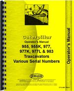 Operators Manual for Caterpillar 983 Traxcavator
