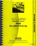 Operators Manual for Caterpillar 992B Wheel Loader