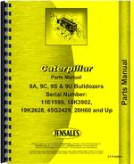 Parts Manual for Caterpillar 9A Bulldozer Attachment