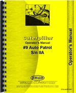 Operators Manual for Caterpillar Auto Patrol Tractor