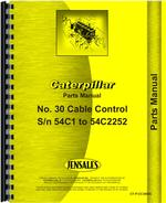 Parts Manual for Caterpillar 30 Cable Control Attachment