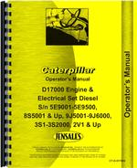 Operators Manual for Caterpillar D17000 Engine