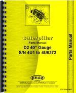 Parts Manual for Caterpillar D2 Crawler