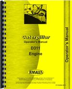 Operators Manual for Caterpillar D311 Engine