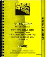 Operators Manual for Caterpillar D350C Articulated Dump Truck
