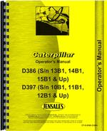 Operators Manual for Caterpillar D386 Engine