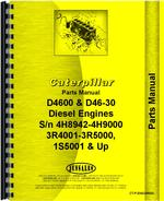 Parts Manual for Caterpillar D4600 Engine